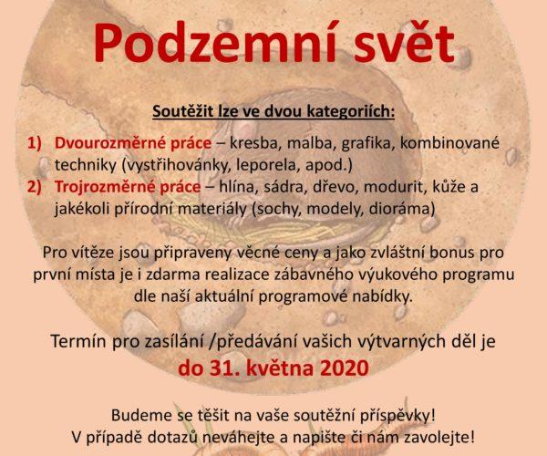 Podzemní svět 2020 – výtvarná soutěž – PRODLOUŽENO DO 31.5.2020