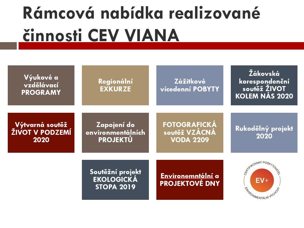Programová nabídka CEV VIANA na školní rok 2019/2020