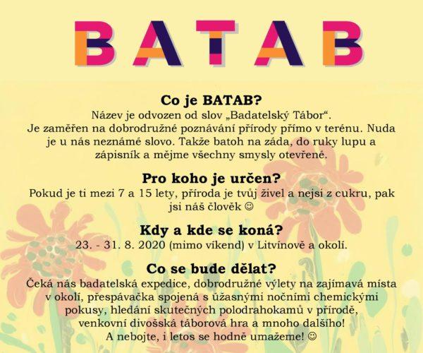 Tábor BATAB 2021 BUDE